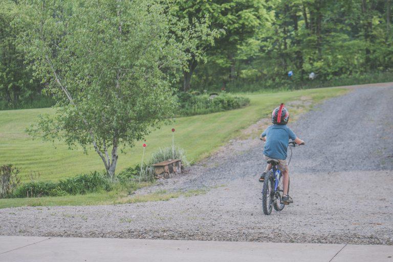 The joy of riding a bike