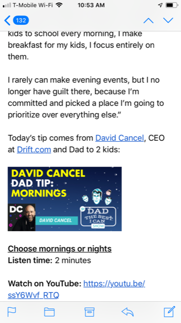 Email Tip David Cancel